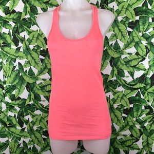 5 for $25 PINK VS Coral Pink Tank Top